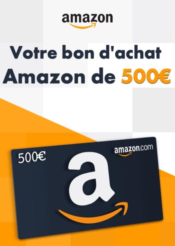 Bon d achat Amazon 500 euros