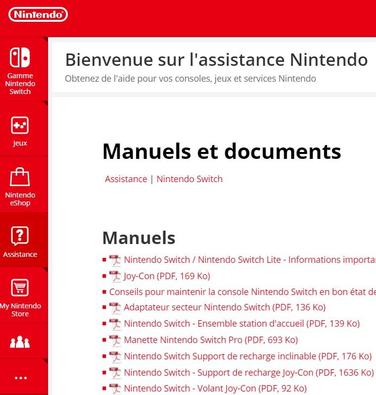 pdf a telecharger Nintendo Switch