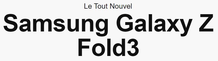 Galazy Z Fold3